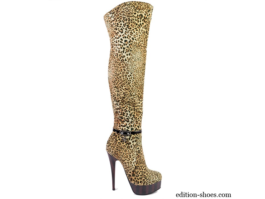 Дамски ботуши леопард с катарама 2547
