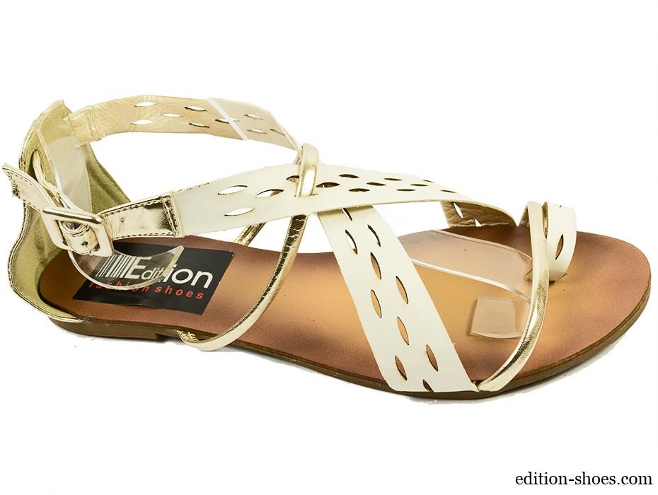 Дамски сандали бели 3066