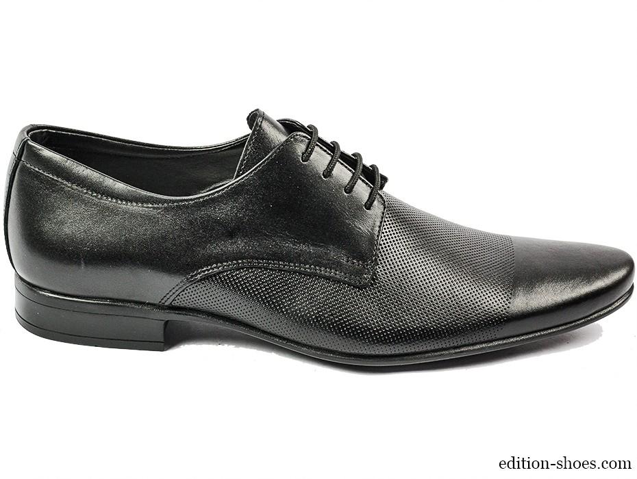 Мъжки обувки черни с връзки 3691