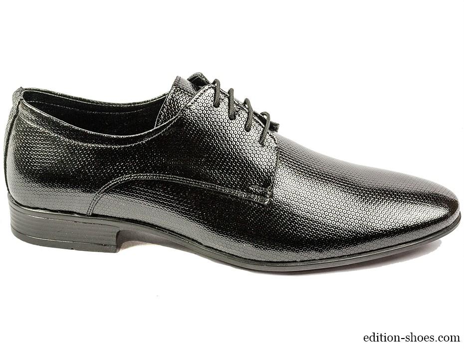 Мъжки обувки черни с връзки 4383