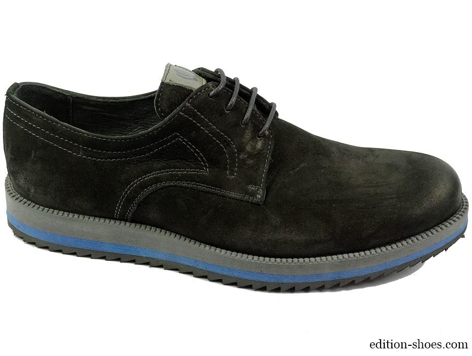Мъжки обувки черни изчистен модел 4972