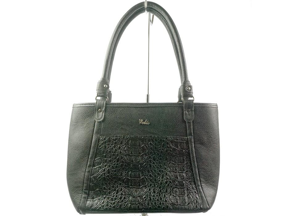 Дамска чанта черна шагре 6561