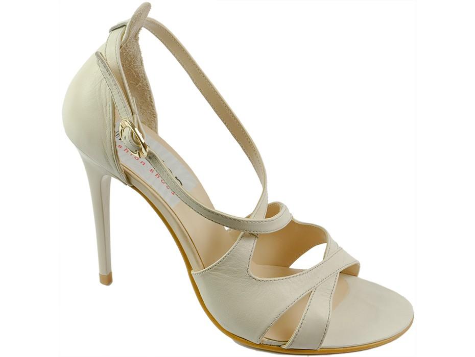 Дамски сандали бежови 7054