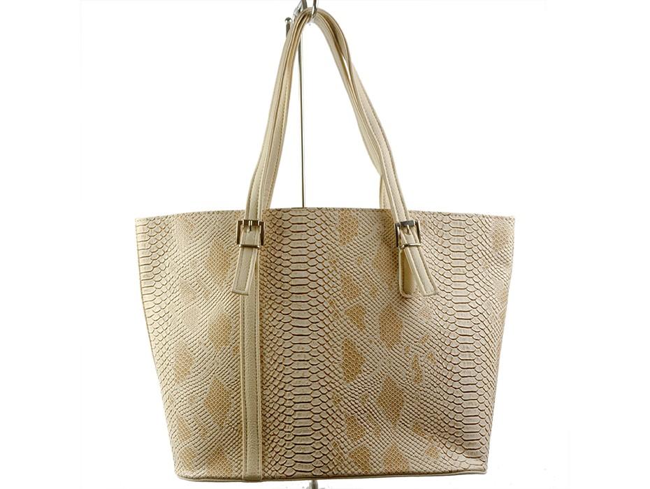 Дамска чанта бежова 7148