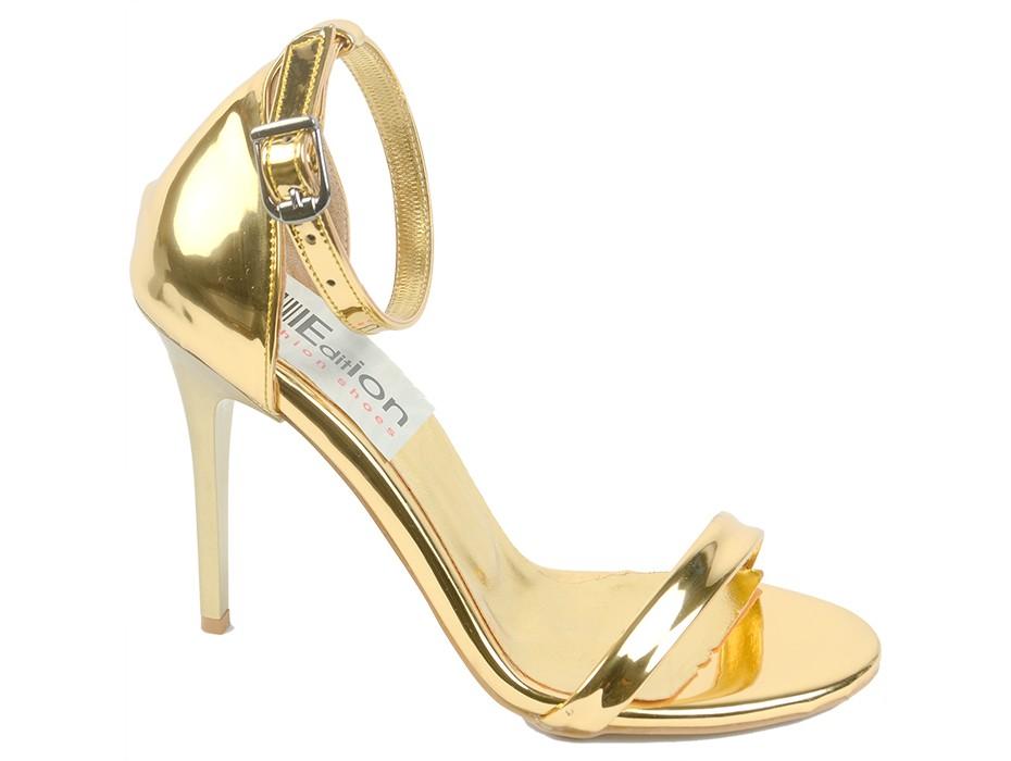 Дамски сандали златни 7624