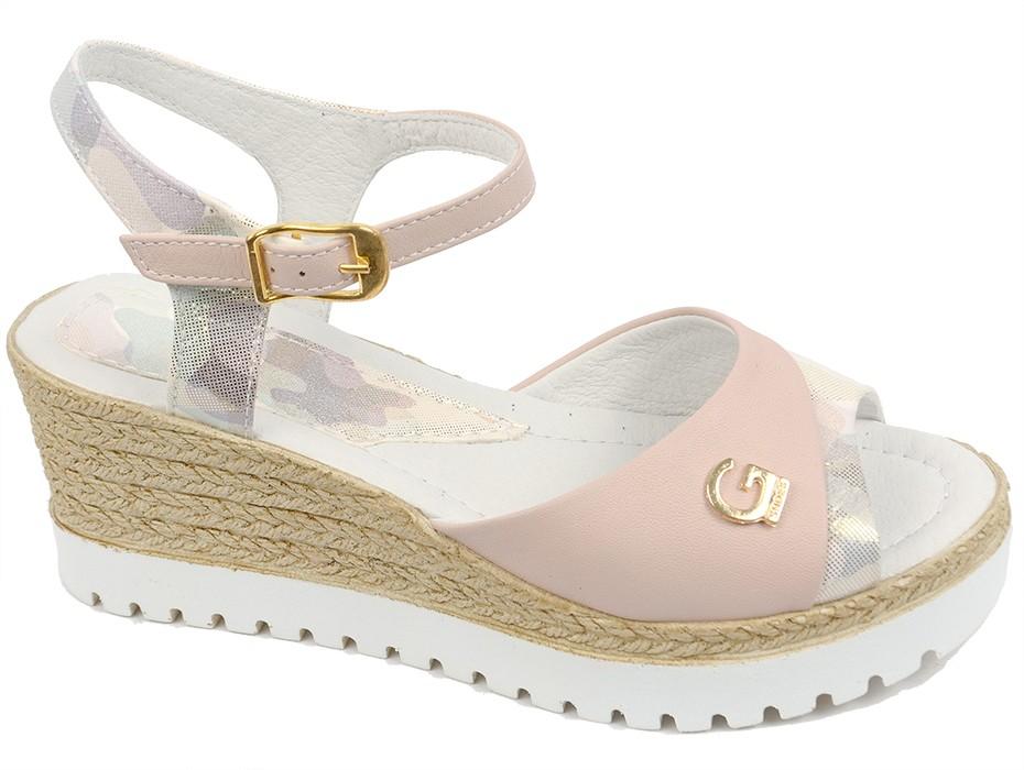 Дамски сандали пудра 8016