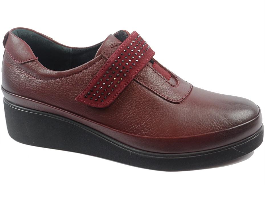 Дамски обувки бордо 8159