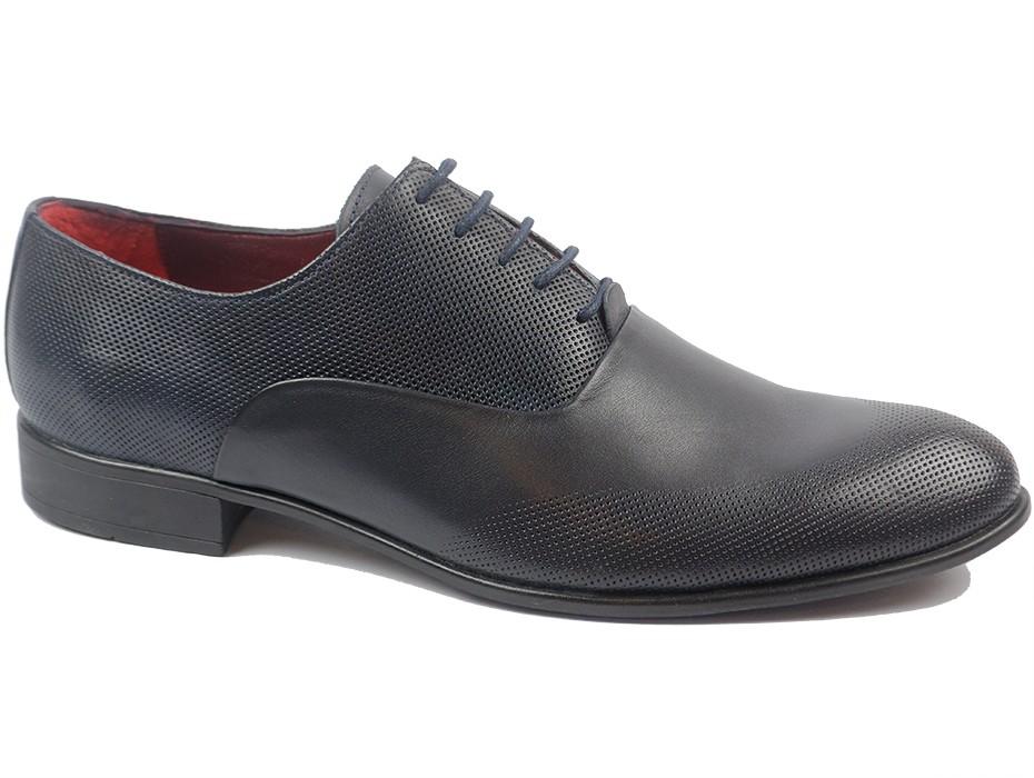 Мъжки обувки сини 9162