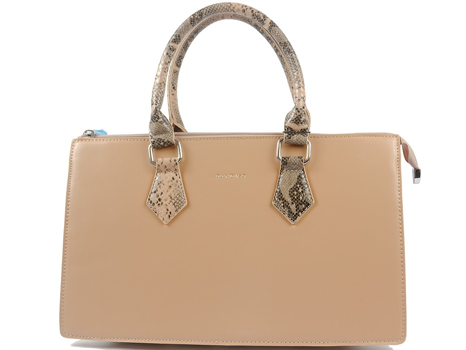 Дамска чанта бежова 9544
