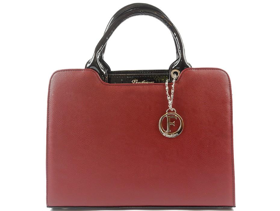 Дамска чанта бордо 9890