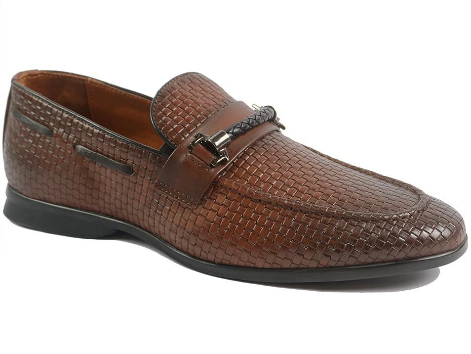 Мъжки обувки кафяви 10082