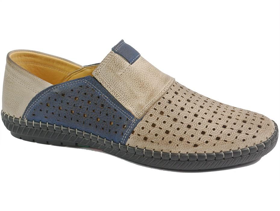 Мъжки обувки бежови 10114