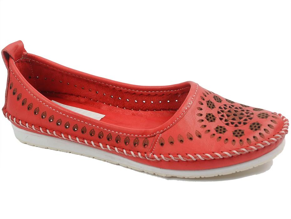 Дамски обувки червени 10752