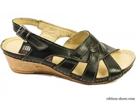 Дамски сандали черни с 3 каишки 3111