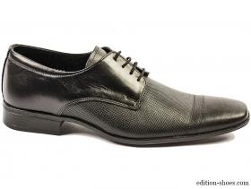 obuvki-Мъжки обувки черни с връзки 3462