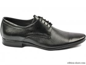 Мъжки обувки черни с връзки 3691 - obuvki