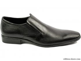 obuvki-Мъжки обувки черни без връзки 4114