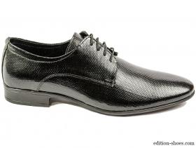 obuvki-Мъжки обувки черни с връзки 4383