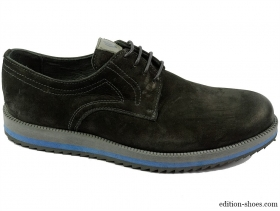 обувки-Мъжки обувки черни изчистен модел 4972
