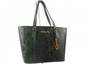 Дамска чанта черна змия 6289 - obuvki
