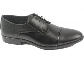 obuvki-Мъжки обувки черни с ръб 6367