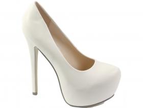 Дамски обувки бели 6642 - obuvki