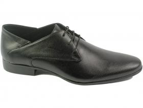 obuvki-Мъжки обувки черни с връзки 6680