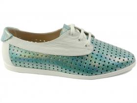 обувки-Дамски обувки зелени 6727