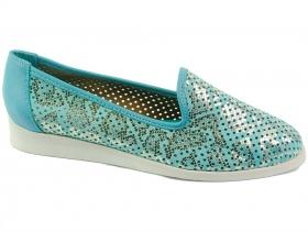 obuvki-Дамски обувки сини 6898