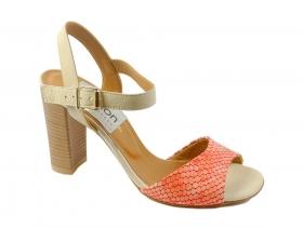 обувки-Дамски сандали корал 6906