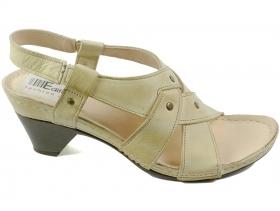 обувки-Дамски сандали бежови 7023