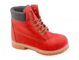 обувки-Дамски боти червени 7497