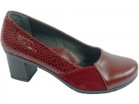 Дамски обувки бордо 7671