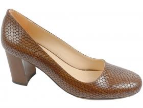 obuvki-Дамски обувки кафяви 7675