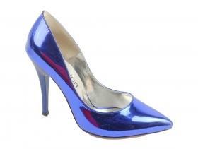 обувки-Дамски обувки сини 7707