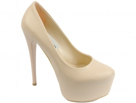 Дамски обувки бежови 7718