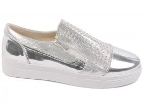 obuvki-Дамски обувки сребро 7720