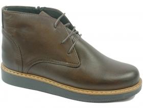 обувки-Дамски боти кафяви 8133