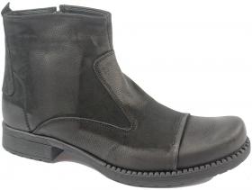 obuvki-Мъжки боти черни 8256
