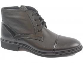 obuvki-Мъжки боти черни 8261