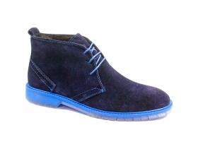 обувки-Мъжки боти сини 8541