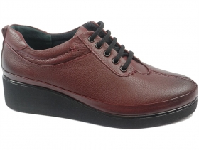 obuvki-Дамски обувки бордо 9128