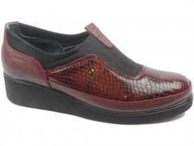 obuvki-Дамски обувки бордо 9141