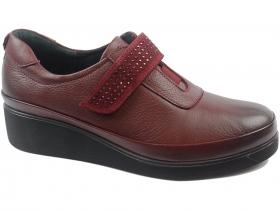 obuvki-Дамски обувки бордо 8159