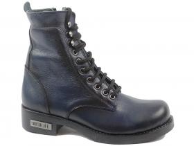 обувки-Дамски боти сини 9151