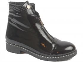 обувки-Дамски боти черни 9237