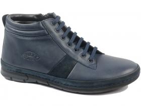 обувки-Мъжки боти сини 8329