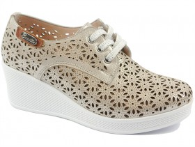 obuvki-Дамски обувки бежови 9509