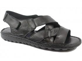 Мъжки сандали черни XXL 9701 - obuvki