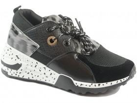 obuvki-Дамски обувки черни 9816